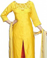 Yellow Silk Suit
