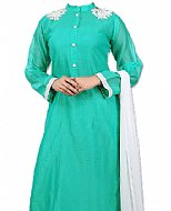 Sea Green Chiffon Suit- Indian Semi Party Dress