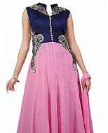 Blue/Pink Chiffon Suit- Indian Semi Party Dress