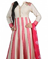 White/Pink Georgette Suit- Indian Semi Party Dress
