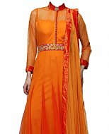 Orange Chiffon Suit