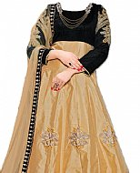 Black/Golden Silk Suit- Indian Semi Party Dress