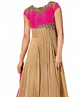 Pink/Beige Georgette Suit- Indian Semi Party Dress