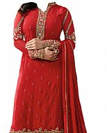 Red Chiffon Suit- Indian Dress