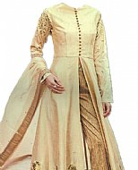 Ivory Silk Suit- Indian Semi Party Dress