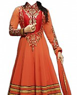 Rust Chiffon Suit- Indian Semi Party Dress