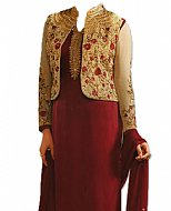 Maroon Georgette Suit- Indian Semi Party Dress