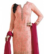 Peach Jamawar Suit- Indian Semi Party Dress