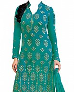 Turquoise Georgette Suit