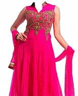 Hot Pink Chiffon Suit
