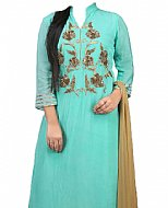Light Turquoise Chiffon Suit- Indian Dress