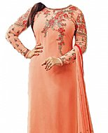 Peach Georgette Suit- Indian Semi Party Dress