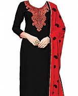 Black/Red Georgette Suit- Indian Clothes