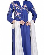 Blue/White Georgette Suit