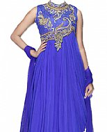 Royal Blue Net Suit- Indian Clothes