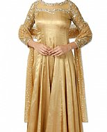 Golden Silk Suit- Indian Semi Party Dress