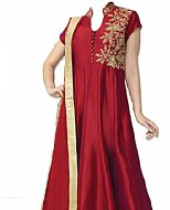 Maroon Silk Suit- Indian Semi Party Dress