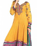 Gold Yellow Georgette Suit