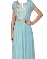 Sky Blue Georgette Suit- Indian Semi Party Dress