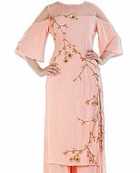 Light Peach Georgette Suit- Indian Dress