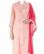 Pink Georgette Suit