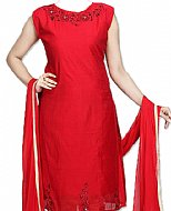 Red Silk Suit- Indian Semi Party Dress