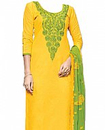 Yellow/Green Georgette Suit