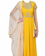 Gold Yellow Chiffon Suit