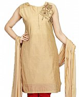 Beige Silk Suit- Pakistani clothes