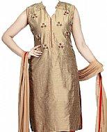 Bronze Silk Suit- Pakistani clothing
