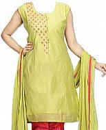 Apple Green Silk Suit- Pakistani suits