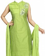 Green Silk Suit