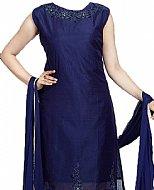 Navy Blue Silk Suit- Pakistani clothes