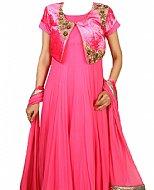 Hot Pink Chiffon Suit- Pakistani clothes
