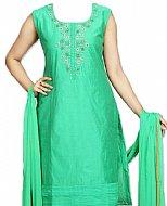 Sea Green Silk Suit- Pakistani clothing