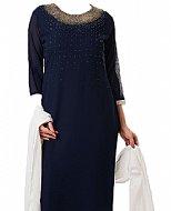 Blue Chiffon Suit- Indian Dress