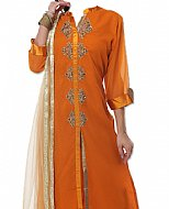 Rust Chiffon Suit- Indian Dress