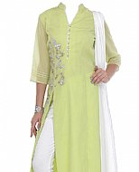 Light Green Chiffon Suit- Indian Semi Party Dress