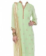 Mint Green Chiffon Suit- Indian Dress
