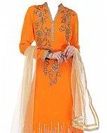 Orange Chiffon Suit- Indian Dress