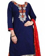 Navy Blue Chiffon Suit- Indian Dress