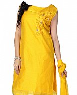 Yellow Silk Suit- Indian Semi Party Dress