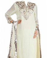 Off-white Chiffon Suit- Indian Dress