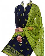 Blue/Parrot Georgette Suit
