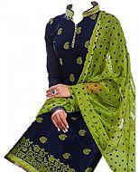 Blue/Parrot Georgette Suit- Indian Semi Party Dress