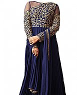 Blue Chiffon Suit- Indian Semi Party Dress