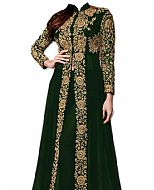 Bottle Green Chiffon Suit