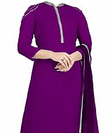 Indigo Georgette Suit- Pakistani Casual Clothes