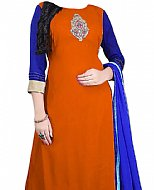 Rust/Blue Georgette Suit- Indian Dress
