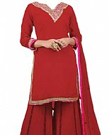 Red Georgette Suit